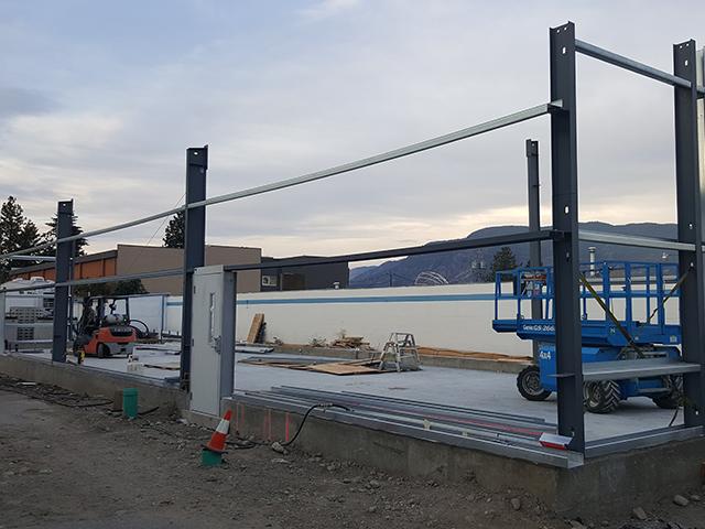 Shop expansion frame goes up