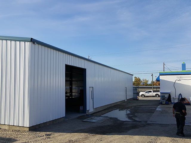 Shop expansion - paint shed