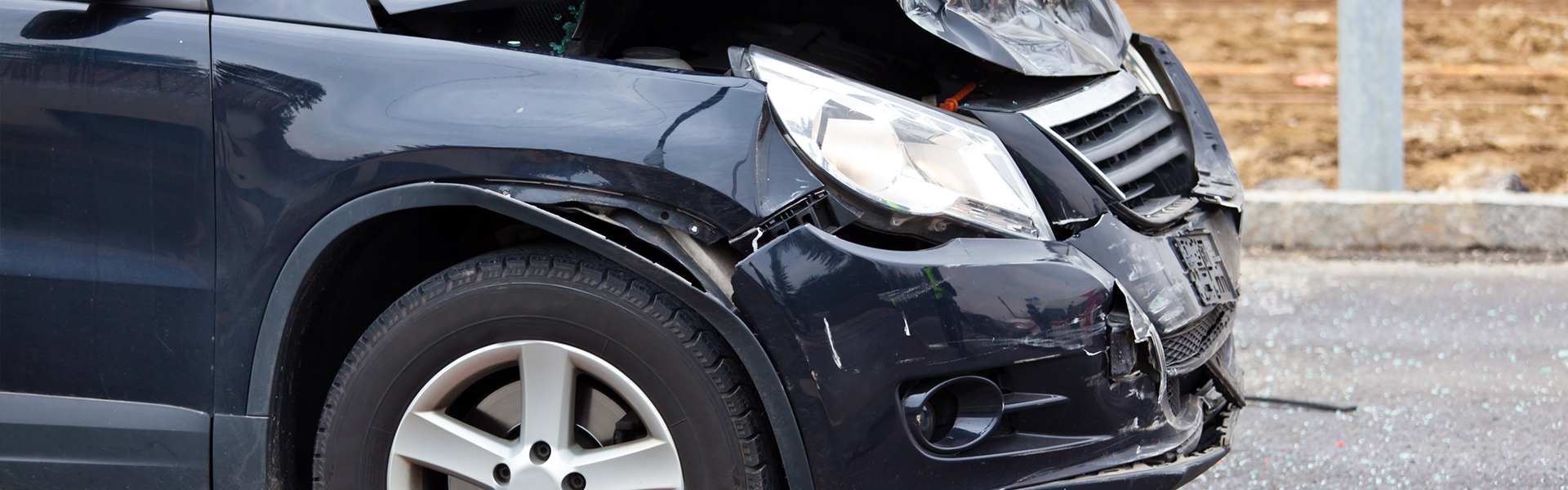 car damaged in a crash
